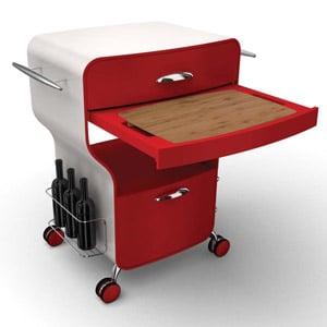 Carrello cucina trix rosso legnoart stilcasa net for Carrello portalegna da arredamento