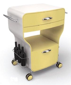Carrello cucina trix giallo crema legnoart stilcasa net - Carrello cucina design ...