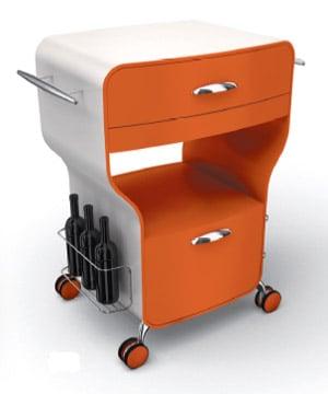 Carrello Cucina Trix Arancione | Legnoart | Stilcasa.Net: carrelli ...