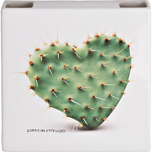 Umidificatore ceramica cactus per termosifone verde chiaro