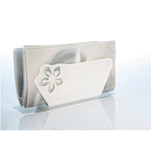 Portatovaglioli Verticale in Plexi Grande SOPHIE 18x10xh5,5 cm bianco