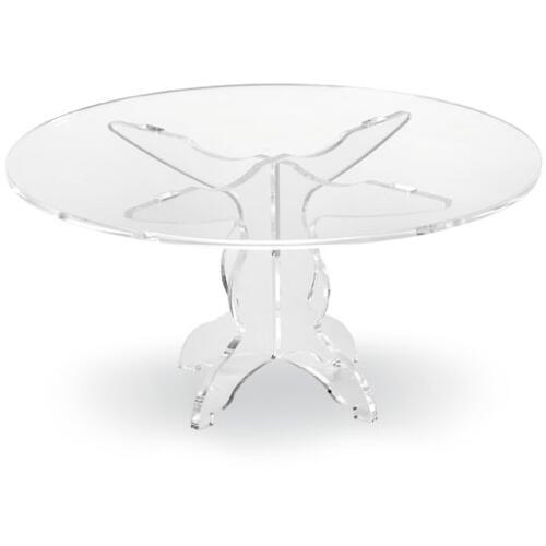 Alzata, Tortiera Grande in plexiglas 4 gambe con copriripiano LIKE WATER Ø28xh32 trasparente