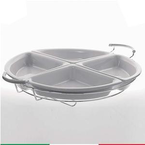 Antipastiera Roma 49x61xh8 cm Full Metal