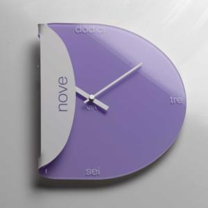 Orologi da Parete PIADA colore LILLA 16,5x3,5x30cm