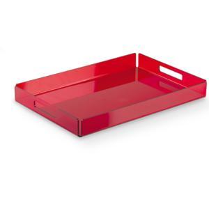 Vassoio piccolo 32x22xh3.5 cm LIKE WATER in plexiglas trasparente Rosso Trasparente