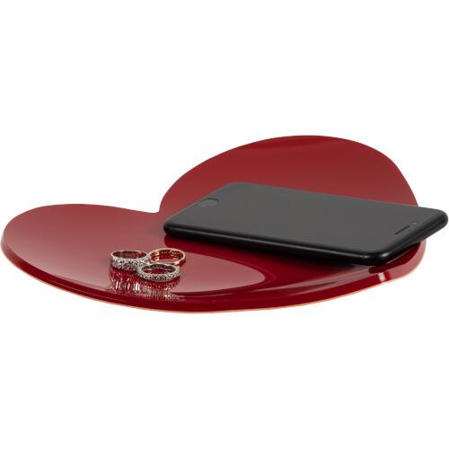 Vuotatasche cuore Heart in plexiglas 22x23xh4cm colorato rosso
