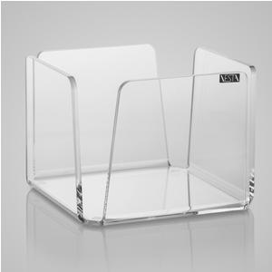 Portatovaglioli Orizzontale in Plexi Picccolo LIKE WATER 13x13xh10 cm - per tovagliolini piccoli Trasparente