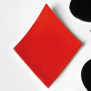 Vuotatasche QUADRI in Plexiglass 17x24,5xh2,6 cm Rosso