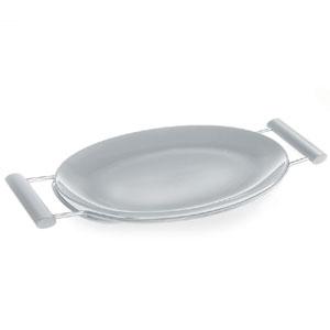 Piatto da portata 45x24xh4 cm Arianna pirofila in porcellana da forno