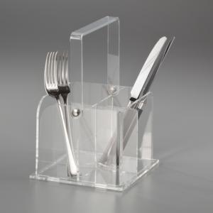 Portaposate Cestino Like Water 16x16xh12.5 cm in Plexi Trasparente