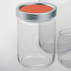Barattolo rotondo diametro 11xh12 cm Kg 0.75 Arianna medio in vetro tappo in alluminio