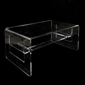 Tavolino da Salotto basso in plexi LINO 82x50xh37 cm spessore 10 mm