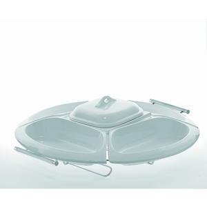 Cena fredda Arianna composizione vassoio e 5 ciotoline in porcellana con coperchio