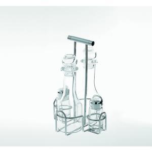 Menage Full Metal Olio Aceto sale e Pepe contenitori in vetro