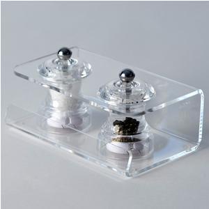 Sale e Pepe LIKE WATER 16,5x9,5x8,5h cm - spessore 3 mm in cristallo acrilico trasparente