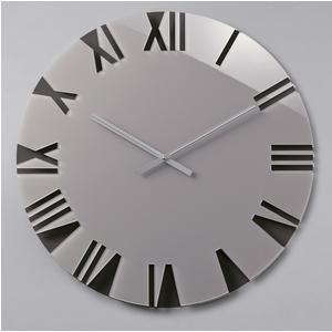 Orologio da parete movimento al quarzo ROMA Small Ø42x2,5 in plexigas bicolore Tortora