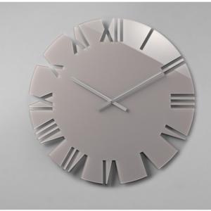 Orologio da parete movimento al quarzo ROMA Big Ø60x2,5 in plexigas bicolore Tortora