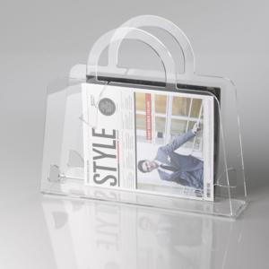 Portariviste Shop Bag in plexiglas trasparente 40x10x36 hcm Trasparente