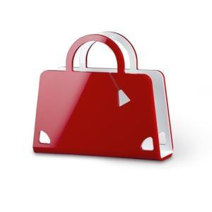Portariviste Shop Bag in plexiglas trasparente 40x10x36 hcm Rosso