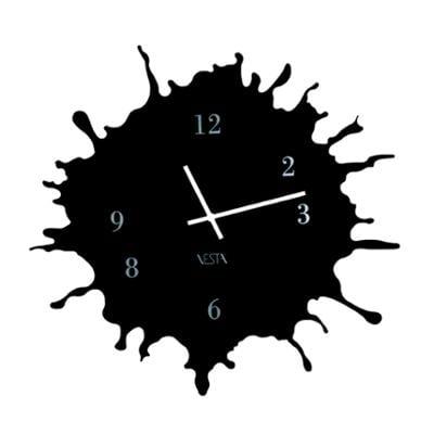 Orologio da parete movimento al quarzo BIG Ø63,5x2,5 in plexigas bicolore SKIZZO Nero