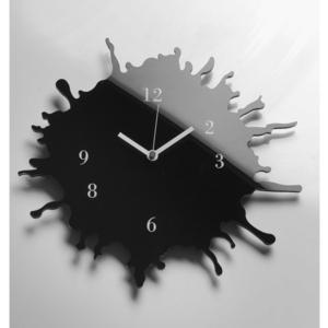 Orologio da parete movimento al quarzo Ø33,5 in plexigas bicolore SKIZZO Nero