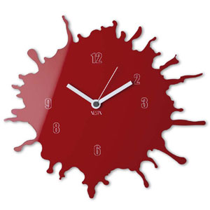 Orologio da parete movimento al quarzo Ø33,5 in plexigas bicolore SKIZZO Rosso