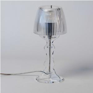 Lampada da tavolo Abat Jour Piccola LADY diametro Ø14xh31cm Trasparente
