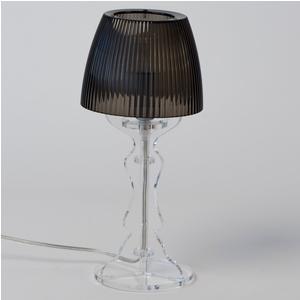 Lampada da tavolo Abat Jour Piccola LADY diametro Ø14xh31cm Trasparente Grigio
