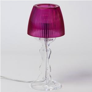 Lampada da tavolo Abat Jour Piccola LADY diametro Ø14xh31cm Trasparente Fucsia
