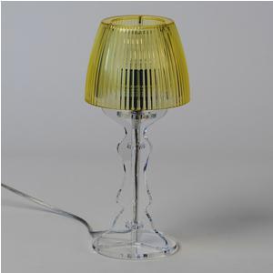 Lampada da tavolo Abat Jour Piccola LADY diametro Ø14xh31cm Trasparente Giallo