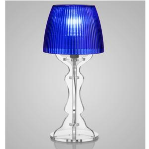 Lampada da tavolo Abat Jour Piccola LADY diametro Ø14xh31cm Trasparente Blu