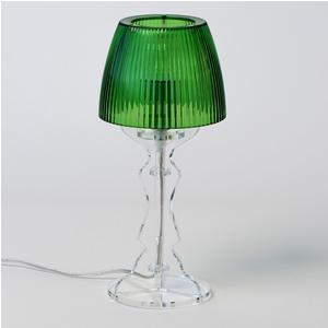 Lampada da tavolo Abat Jour Piccola LADY diametro Ø14xh31cm Trasparente Verde