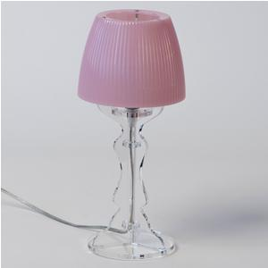 Lampada da tavolo Abat Jour Piccola LADY diametro Ø14xh31cm Trasparente Rosa
