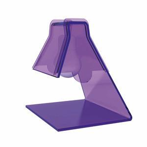 Lampada Abat -Jour in plexiglass trasparente modello 20x17xh21 cm - 40 W -E 14 BULB viola