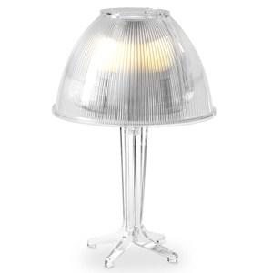 Lampada da tavolo Grande STANTON Ø42xh60 cm calotta prismatica trasparente