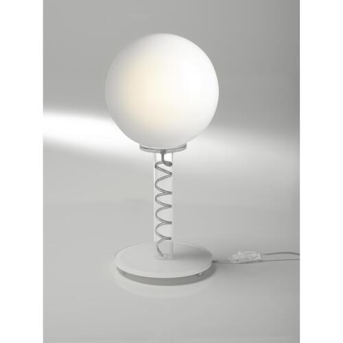 Lampada da Tavolo diametro 20xh42 cm a sfera con Globlo Bianco