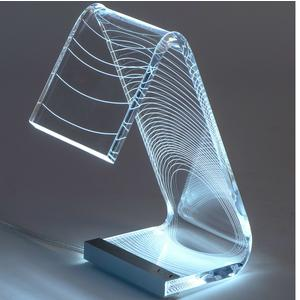 Lampada da tavolo C-LED ECLISSE 13,5x24xh34 cm - 2,4 W-24 V struttura in Plexi