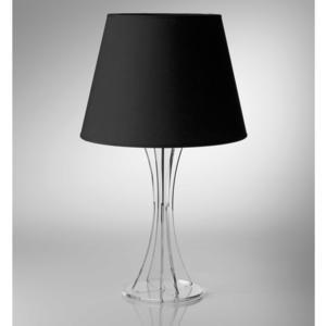 Lampada da tavolo SKY Media supporto in plexiglas paralume colore Nero Ø30xh52 cm