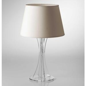 Lampada da tavolo SKY Media supporto in plexiglas paralume colore Avorio Ø30xh52 cm