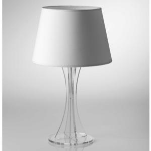 Lampada da tavolo SKY Media supporto in plexiglas paralume colore Bianco Ø30xh52 cm