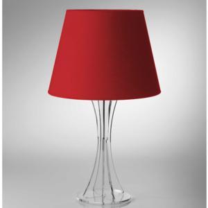 Lampada da tavolo SKY Media supporto in plexiglas paralume colore Rosso Ø30xh52 cm