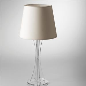 Lampada da tavolo SKY Grande supporto in plexiglas paralume Ø40xh71 cm colore avorio