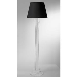 Lampada a Piantana SKY supporto in plexiglas paralume colore Nero Ø40xh176 cm