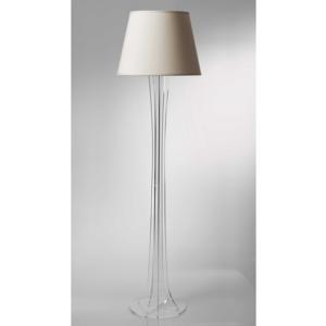 Lampada a Piantana SKY supporto in plexiglas paralume colore Avorio Ø40xh176 cm