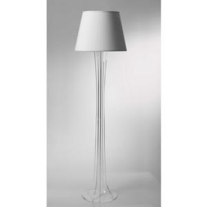 Lampada a Piantana SKY supporto in plexiglas paralume colore Bianco Ø40xh176 cm