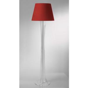 Lampada a Piantana SKY supporto in plexiglas paralume colore Rosso Ø40xh176 cm