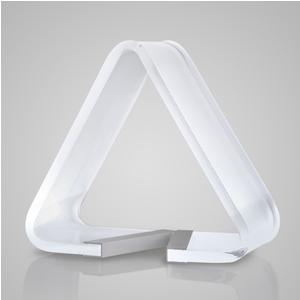 Lampada da Tavolo a DELTA LED 21x11xh19 cm - 3,8 Watt 24 V in Plexi Sabbiato