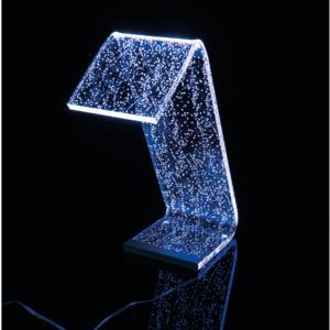 Lampada da Tavolo a Led con RGB 22x17x34h cm 0,25 w - 24 Volt C-LED in Plexi con 4 decori variabili
