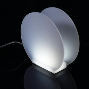 Lampada Abat-Jour A Led VANITY 21x8xh20 cm - 2,85 Watt 24 V in Plexi Sabbiato