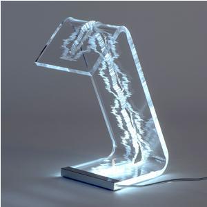 Lampada da Tavolo C Led 20x12x27h cm 2 W - 24 Volt Luxury edition profilo oro in confezione regalo
